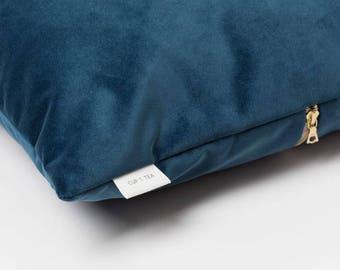 Velvet Touch Cushion . Midnight Blue | Velvet Cushion | Throw Pillow | Velvet Pillow | Pillow Case | Decorative Pillow | Accent Pillow