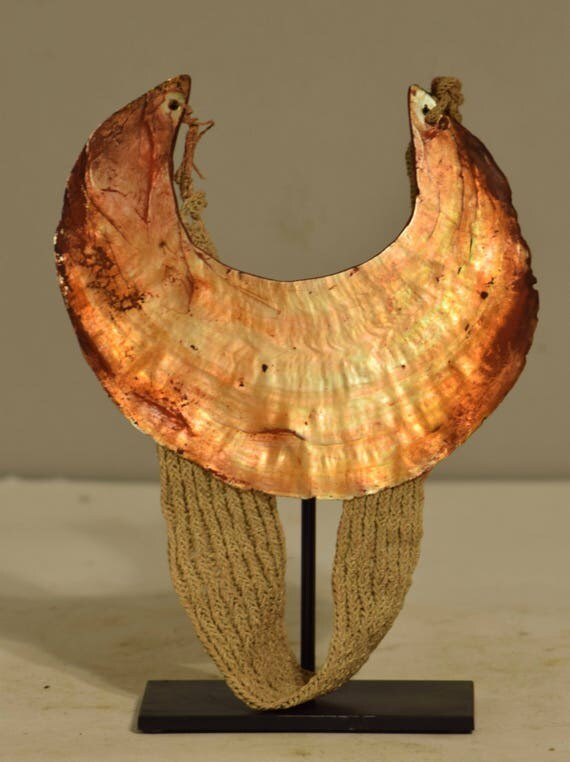 Papua New Guinea Kina Shell Woven Necklace Highlands Currency Brides Price Kina Shell