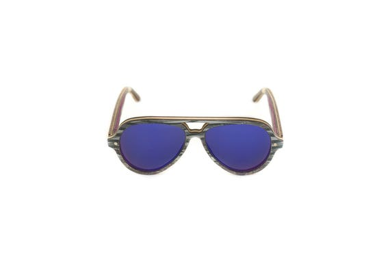Skateboard recycled sunglasses PIPE shape #349 ! purple black ultra violet grey #madeinfrance