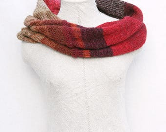Warm knit mohair scarf / Cozy oversized neck wrap / Fall scarf boho / Bridal capelet / Infinity cowl - Rowan 3