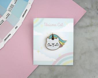 Unicorn cat badges