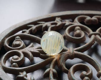 Glass Marble, Boro Marble, Glass Orb Art Marble, Fumed Marble, Collectible Marble Handmade Glass Space Rings Marble / Meditation Marble
