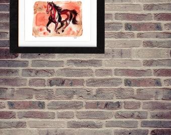 art, wall art, horse art, horse painting, equestrian, ranch, horse lover, gift, original painting, original art, decor, saltwatercolors