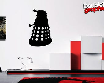 Doctor Who Inspired Dalek Vinyl Wall Art (s-xxl sized)