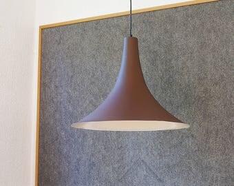 Dijkstra hanging lamp.  Aluminium, Brown, matt. Diameter 47cm 70s design ceiling lamp. Vintage lamp, lamp. XXL retro pendant light