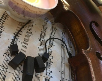 Ebony Piano Key Necklace