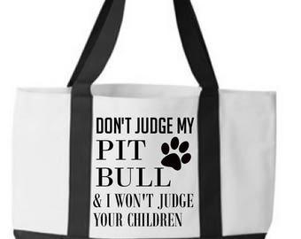 Pitbull Custom Tote bag rescue dog mom dog lover gift dog owner gift christmas gifts best friend gift pit bull doberman personalized gift