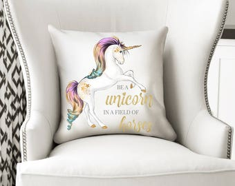 Unicorn Cushion, Unicorn Pillow, Unicorn Gift, Unicorn, Unicorn Decor, Unicorn Nursery, Decorative Pillow, Decorative Cushion, Girl Gift
