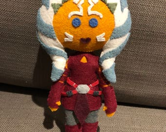 Ahsoka Tano Star Wars Clone Wars inspired plush felt doll