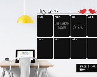 gro er wandkalender wandtattoo tafel tafel kalender 2017. Black Bedroom Furniture Sets. Home Design Ideas