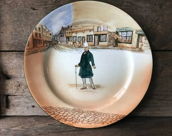 1930s Royal Doulton Dickens Bowl, D6327, Dickens Ware, Deep Plate, Mr Micawber, Literary Gift, Decor
