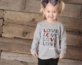 Love Shirt Toddler Boy Valentines Shirt  Kids Valentine Outfit Girls Valentines Day Outfit Boys Valentine Shirt Girls Valentine Outfit
