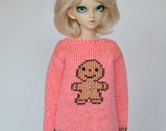 Knitted sweater for Minifee, slim msd, BJD 1/4.