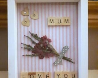 Love you Mum craft frame