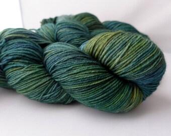 Sundara Sport Merino Two -  Celestial Forest  - Green Forest Blue Superwash Merino Sport Weight Yarn