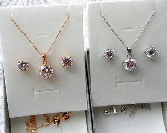 Wedding jewelry sets for bridesmaids gifts Bridesmaid jewelry sets Bridal jewelry set Bridesmaid jewelry gift set Bridal earrings necklace m