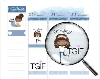 On Sale TgIf Planner Stickers, TGIF Stickers, Fri-yay Stickers, Friday Stickers, TGIF, Functional Stickers, Happy Friday Stickers, EC, Plann
