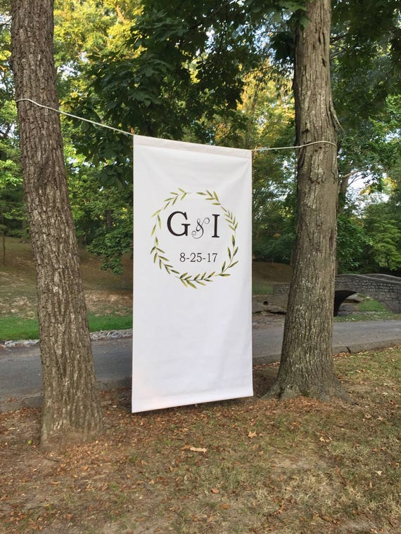 Wedding Backdrop - Custom Wedding Banner - Custom Wedding Backdrop - Wedding Photo Booth - Southern Weddings - Wedding Curtain