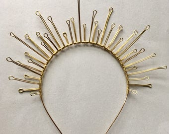 The ESTHER Crown - Starburst, Rays, Festival, Bridal, Prom, Gold, Icon, Celestial, Starry