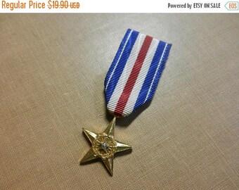 Summer Sale Vintage Vietnam War era Miniature Silver Star Medal Decoration