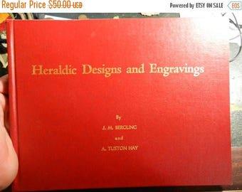 Summer Sale Vintage  Heraldic Designs and Engravings by J.M. Bergling Book