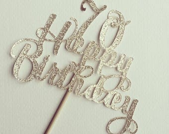 Age / year Birthday cake topper/ bouquet topper - Betty style