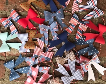 Patriotic BOW garland/ bows/ bow garland/ 4th of july/ red white and blue banner