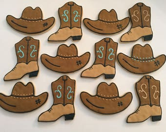 Cowboy Sugar Cookies (one dozen)