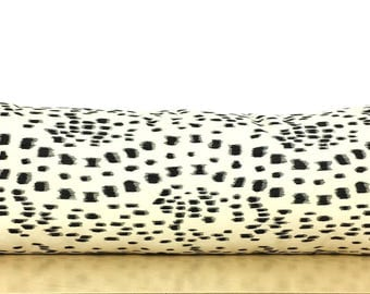 """Les Touches in Black and Ivory Lumbar Pillow Cover - 12"""" x 34"""" - Designer - High End"""