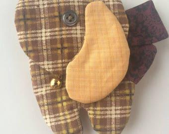 Dog fabric - original key rack key holder