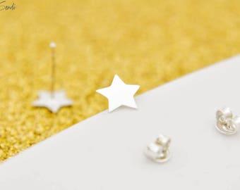 Sterling Silver Star Earrings , Delicate Star, Earrings Star, Small Star, Silver Star, Delicate Silver, Mini Star, Summer Earrings, Stud