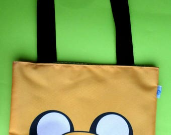 Cute Adventure Time Mini Tote Bag Jake