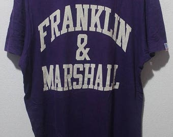 ON SALE 4 Vintage 90s Franklin & Marshall athletic wear made in italy tee shirt