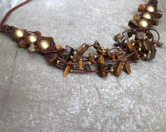 Tiger Eye layered Necklace