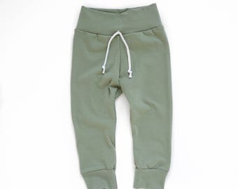 Shorts or Pants || Sage Green || Infant, Baby or Toddler