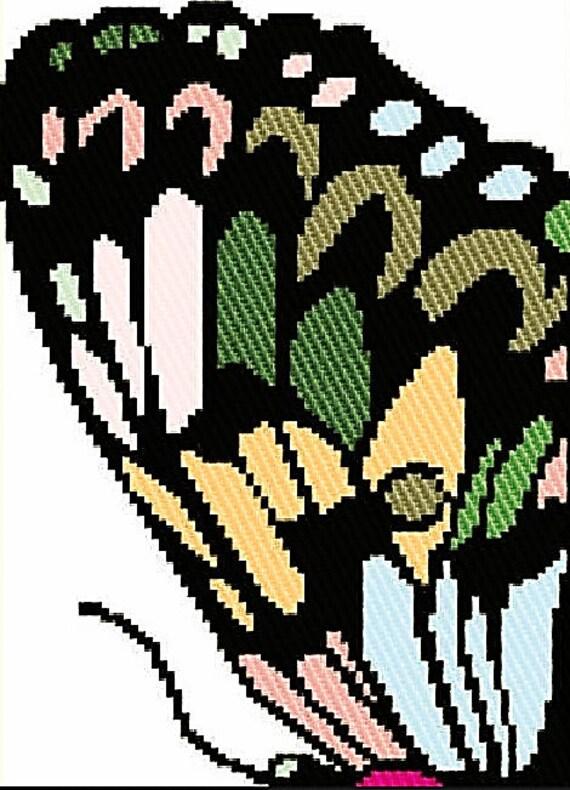 Crochet Chart Digital Download Butterfly Cool Tones