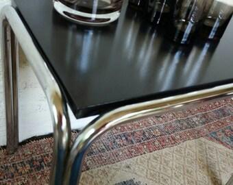 Mid century side table, coffee table, table modernist, tube frame table, Mid century furniture, table chrome, metal tube frame, Christmas