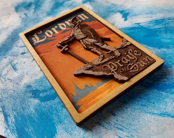 Dark Souls Praise The Sun Wooden Magnet
