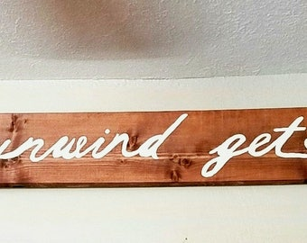 Relax unwind get naked sign