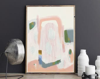 Pink Painting  Minimalistic Abstract Art   Modern Painting   Original  Modern Art   Modern Office