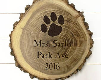 Personalized Wood Plaque with the address of home