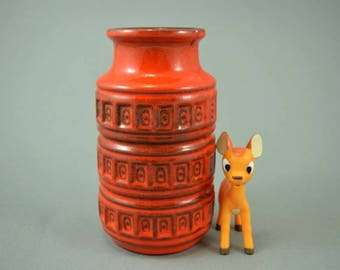Vintage vase / Scheurich / 268 15 / Decor Tundra | West Germany | WGP | 60s