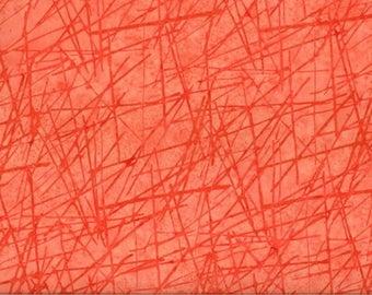 Coral BATIK fabric