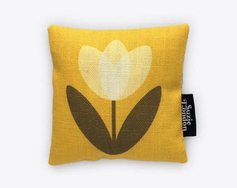 White Tulip Lavender Bag in Yellow