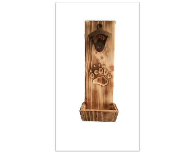 Bottle Opener Bear Paw Carving