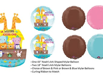 Noah's Ark Balloon Set, Noah's Ark Baby Shower