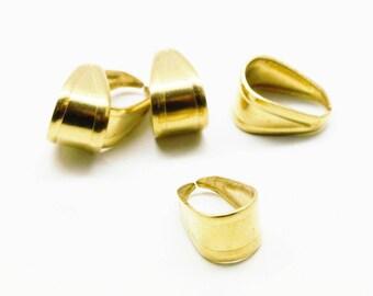 Set of 2 single rings, in brass, 13 * 8 mm