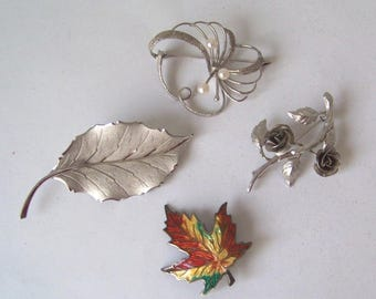 Vintage Collection of Bond Boyd Sterling Silver Brooches/Pins