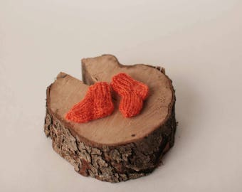 Orange Blythe doll socks, Collectible doll miniature socks, Orange doll accessory, Orange Blythe doll clothes, Orange 12 inch doll outfit