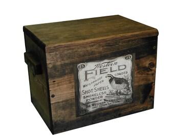 Wooden Ammo Box - Ammunition Storage Crate - Western Field Ad